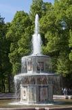 Springbrunnarna av Peterghoff Royaltyfri Foto