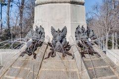 Springbrunnen av den stupade ängeln i Madrid, Spanien. Royaltyfria Foton