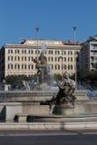 Springbrunnen av najaderna på piazzadellaen Repubblica Royaltyfria Bilder