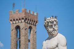Springbrunnen av Neptun vid Ammannati i Florence, Italien Royaltyfri Foto