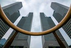 Springbrunnen av rikedom i Singapore arkivfoton