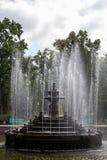 Springbrunnen av vatten i den Stefan cel stoen parkerar mycket royaltyfri fotografi