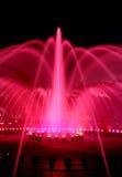springbrunnen exponerade natt Arkivbilder