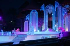 springbrunnen exponerade natt Royaltyfri Fotografi