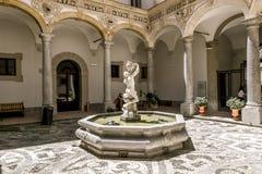 Springbrunnen i borggården av det arkeologiska museet i PA Royaltyfria Foton