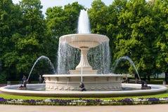Springbrunnen i parkera Arkivfoto
