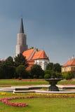 Springbrunnen i Schonbrunn parkerar Arkivfoto