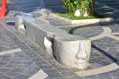 Springbrunnen kvadrerar Arkivbild