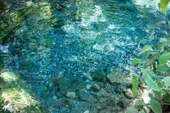 Springbrunnen, naturliga brunnar i Pak Chong är en turist- dragning Royaltyfria Bilder
