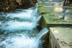 Springbrunnen, naturliga brunnar i Pak Chong är en turist- dragning Arkivfoto