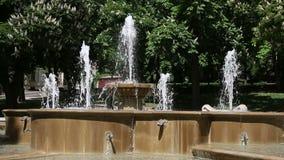 Springbrunnen parkerar in Pecs arkivfilmer