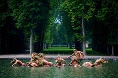 springbrunnfrance neptune slott versailles Royaltyfri Bild