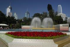springbrunnHong Kong park Arkivbild