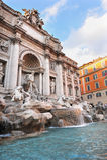 springbrunnitaly rome trevi Royaltyfria Bilder