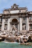 springbrunnitaly rome trevi Royaltyfri Bild