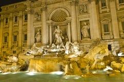 springbrunnitaly rome trevi Royaltyfria Foton