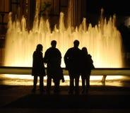 springbrunnnatt Royaltyfri Foto