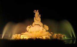 springbrunnnatt Arkivfoto