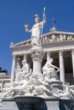 springbrunnparlament vienna Royaltyfria Foton