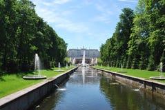 springbrunnpeterhof Royaltyfri Fotografi