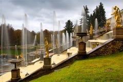 springbrunnpetersburg saint Arkivbild