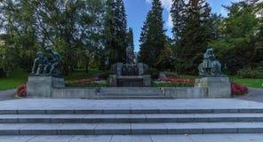SpringbrunnPohjan neito, Tammerfors, Finland Royaltyfri Foto