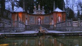 SpringbrunnSchloss Hellbrunn slott, Salzburg lager videofilmer