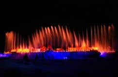 springbrunnshow Fotografering för Bildbyråer