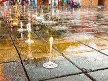 Springbrunnstråle Royaltyfri Fotografi