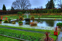 springbrunnträdgård Arkivbild