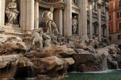 SpringbrunnTrevien (Fontana di Trevi), Rome Arkivbild