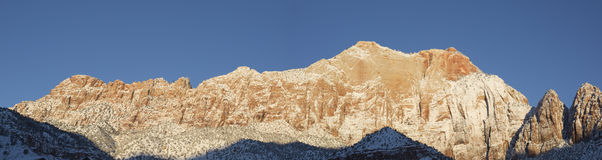 Springdale Utah Mountain Panorama in the morning light Stock Photos
