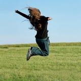 Springen Stockfoto