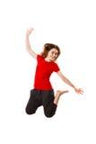 Springen der jungen Frau Lizenzfreie Stockbilder