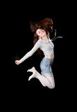 Springen des jungen Mädchens lizenzfreies stockfoto
