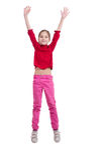 Springen des kleinen Mädchens Lizenzfreie Stockfotografie