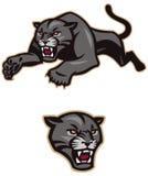 Springen des schwarzen Panthers Lizenzfreie Stockfotografie
