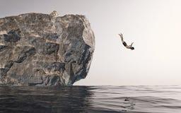 Springen Sie in das Wasser lizenzfreie abbildung
