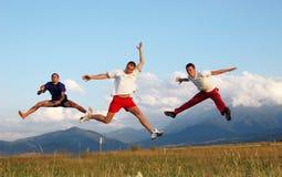 Springen Sie für Freude Lizenzfreie Stockbilder