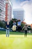 Springen Sie für Freude Lizenzfreies Stockbild