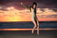 Springen Sie für Freude Lizenzfreies Stockfoto