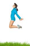 Springen Sie für Gesundheit Stockbild
