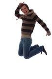 Springen Sie für Freude Stockbild