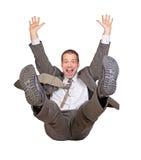 Springen Sie Geschäftsmann Stockfoto
