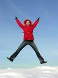 Springen Sie Mädchen Lizenzfreie Stockfotos