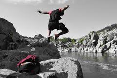 Springen Sie Mann! Stockbild