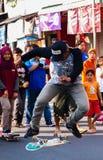 Springen Sie mit einem Skateboard Lizenzfreie Stockfotografie