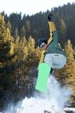 Springen Sie mit Sprungbrett Stockfotos
