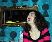 Springen Sie Sänger Victoria Dayneko an der Premiere von Ali heraus Stockfotografie