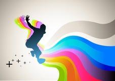 Springen Sie in Sport Stockbild